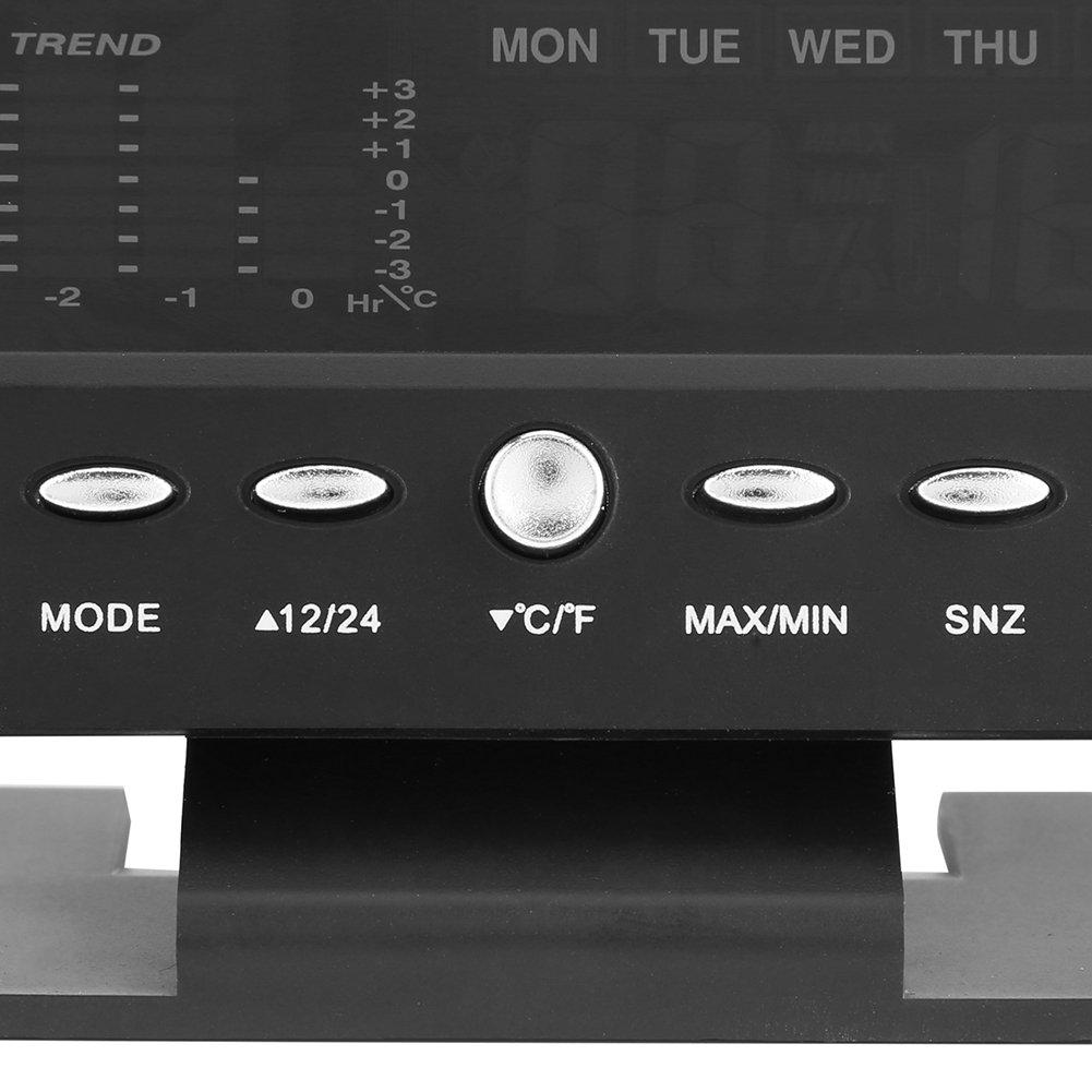 Escritorio Despertador Term/ómetro Higrometro LCD Pantalla Medidor Temperatura