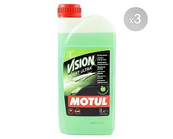 MOTUL visión experto Ultra - Apple - Concentrado de limpieza de parabrisas - 3 x 1 litros (hace up to 12 litros): Amazon.es: Coche y moto