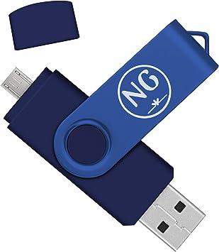 Almacenamiento Externo de Dispositivos Android/PC/Tablet/Mac/Ordenador Pendrive 16 GB Dual NG Memoria USB 16 GB 2.0 (Azul, 16 GB 2.0, 1 Unidad): Amazon.es: Electrónica