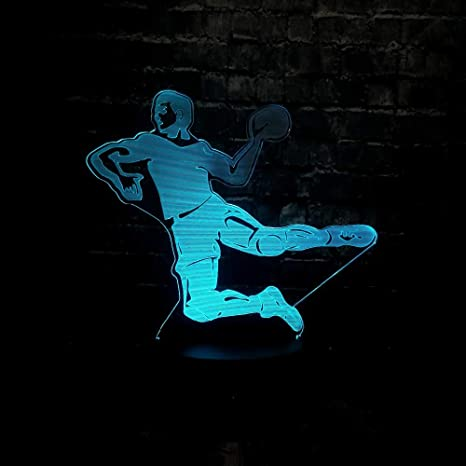 Wallfia Lámpara de ilusión Juego de deportes tiro de baloncesto 3D ...