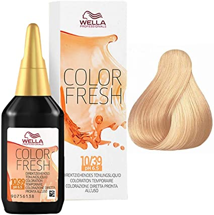 Wella Color Fresh 10/39 Tinte semipermanente - 75 ml