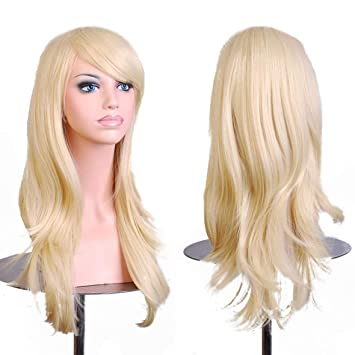 28 quot Women s Hair Wig New Fashion Long Big Wavy Hair Heat Resistant Wig  for Cosplay a51b21e2a3