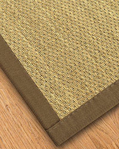 NaturalAreaRugs Messina Natural Seagrass Rug, Fossil, 3' x 5'