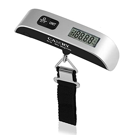 da22a6fe6482 Camry Digital Luggage Scale 110 Lbs Portable High Precision Travel Hanging  Postal Scale with Temperature Sensor and Tare Function Gift for Traveller