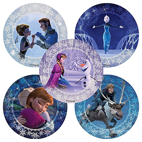 Disney Frozen Glitter Stickers - Birthday and Theme Party Supplies - 50 per Pack by SmileMakers