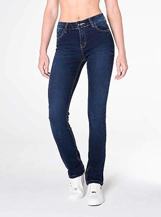 8aa5e85a4 Calça Jeans Reta cintura alta azul escuro: Amazon.com.br: Amazon Moda