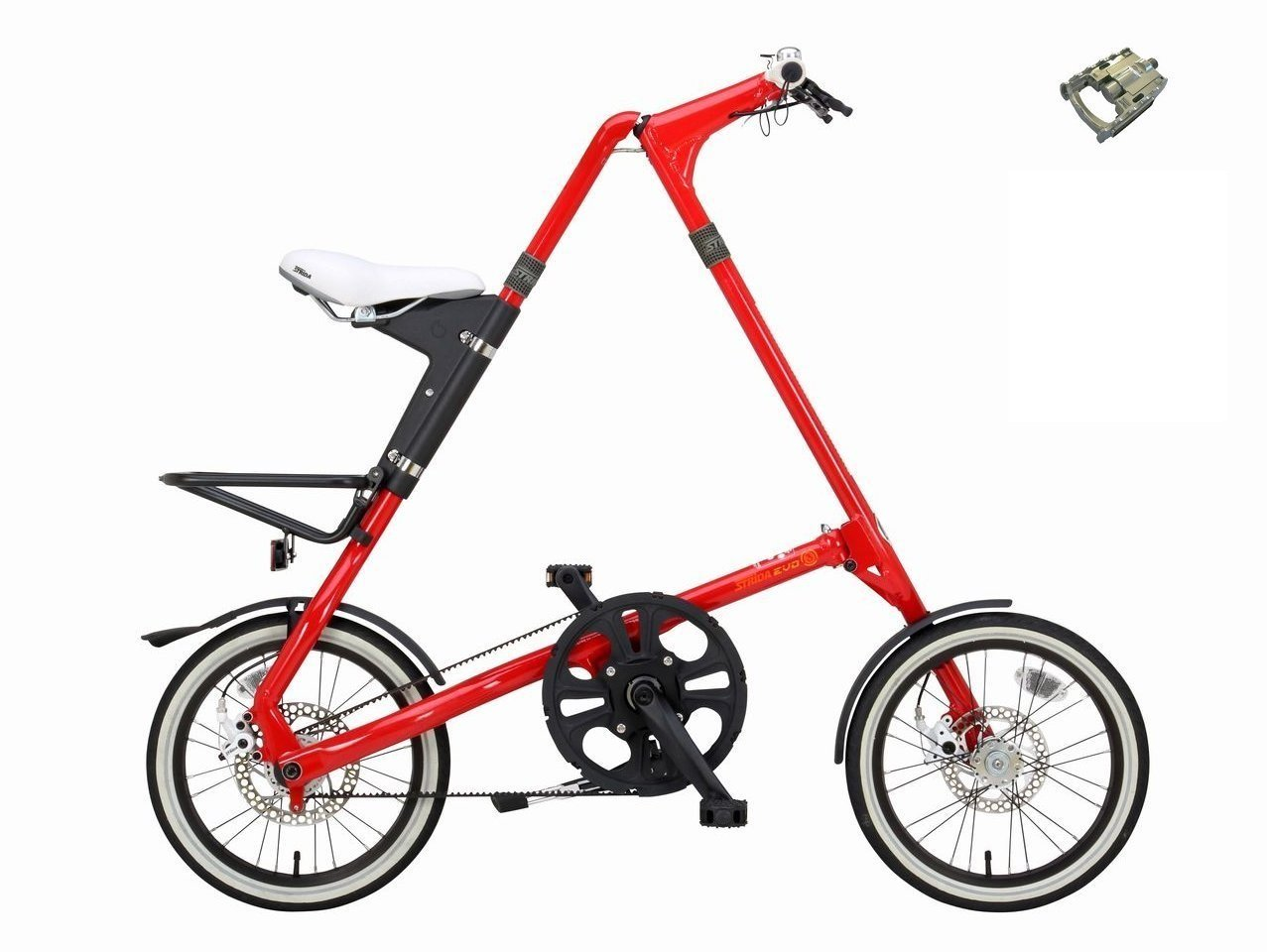STRIDA EVO16(ストライダ エヴォ16) 折り畳み自転車 FD-7ペダル仕様 B07DJD41TJレッド
