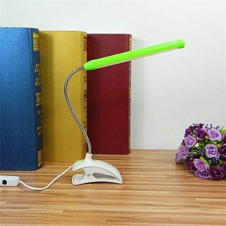 Sala de estudio USB pequeña lámpara de mesa Luz de clip LED ...