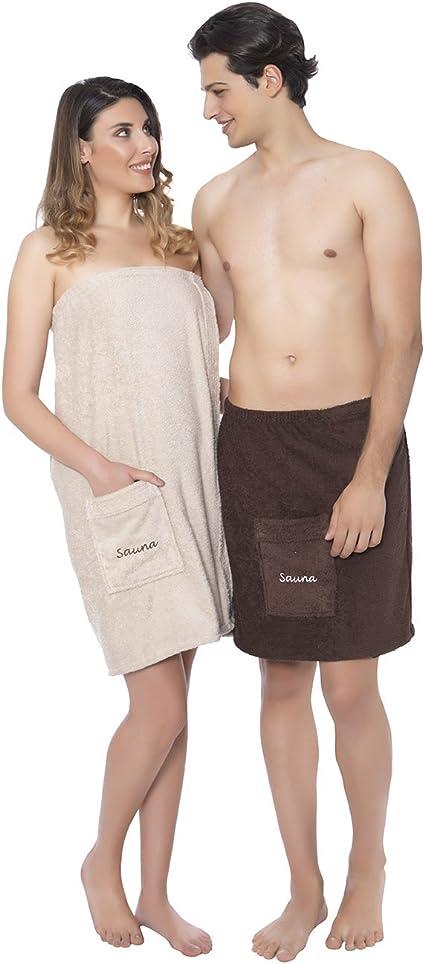 con chiusura in velcro Elit Home Collection Premium Asciugamano da sauna da uomo e da donna colore: Bordeaux 50 x 136 cm cotone ondulato