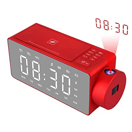 Amazon.com: Htterino - Reloj despertador de proyección con ...