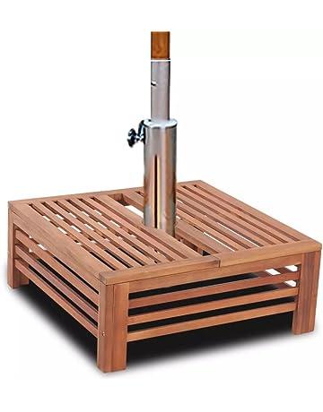 Bases y soportes para sombrillas para patio
