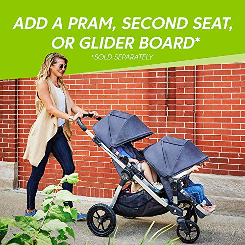 61DHpE3FiFL - Baby Jogger City Select Travel System | Baby Stroller With City Go 2 Car Seat | Stroller Car Seat Combo With 16 Ways To Ride, Jet
