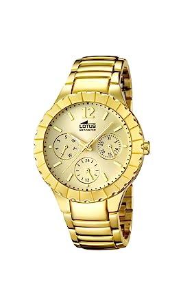 Lotus 15903/2 - Reloj de Pulsera Mujer, Acero Inoxidable, Color Dorado: Amazon.es: Relojes