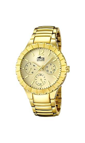 Lotus 15903/2 - Reloj de Pulsera Mujer, Acero Inoxidable, Color Dorado
