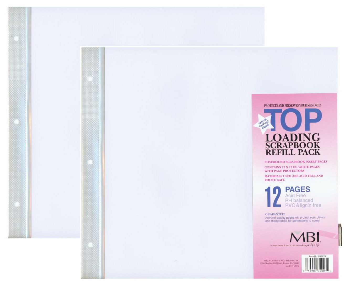 How to refill scrapbook pages - Amazon Com Mbi By Mcs 12 Inch By 12 Inch Scrapbook Expansion Pages 6 Sheet Count 12 Pages