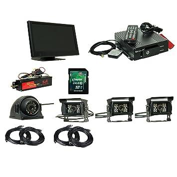 360°Camión De Tráfico Grabador De Cuatro Vías Coche Monitor HD Remoto Video Vigilancia 120 ° Gran Angular de 9 Pulgadas De Pantalla Gran Camión Bus: ...