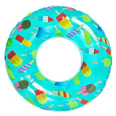 High Five Popsicle Print Inflatable Inner Tube Pool Float - 45 Inch: Toys & Games