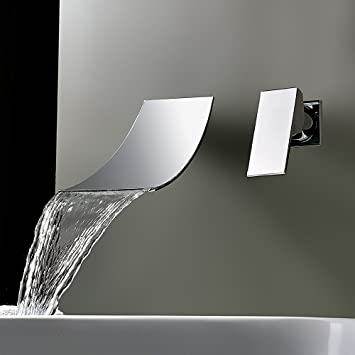 Kinse Klassische Wandmontage Wasserhahn Wasserfall Armatur Fr Waschbecken U  Bad.