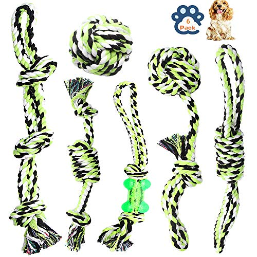 Dog Rope Toys for Aggressive Chewers Durable Tough for Small to Large Dog Chew Toys – Indestructible Small Dog & Puppy Teething Toys Prevents Boredom and Relieves Stress Set of 6