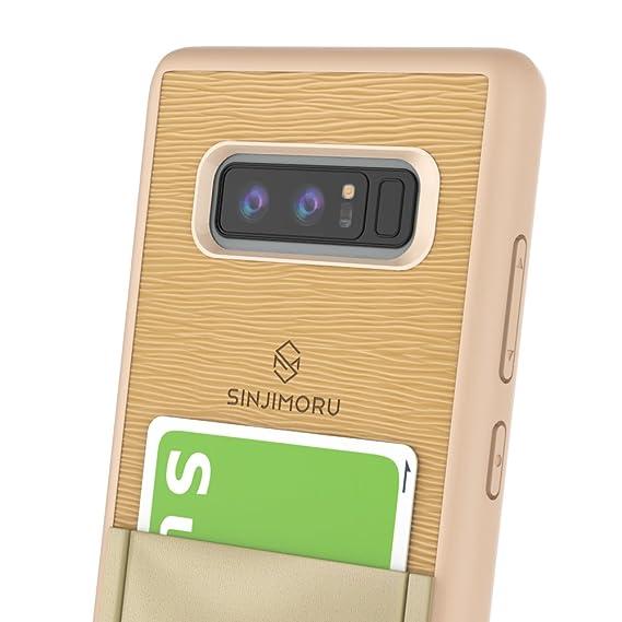 new style 76e6f 229b5 Sinjimoru Galaxy Note 8 Card Case with Sinji pouch card holder/Slim TPU  Case with Stick On Wallet for Galaxy Note 8. Sinji Pouch Case for Samsung  ...