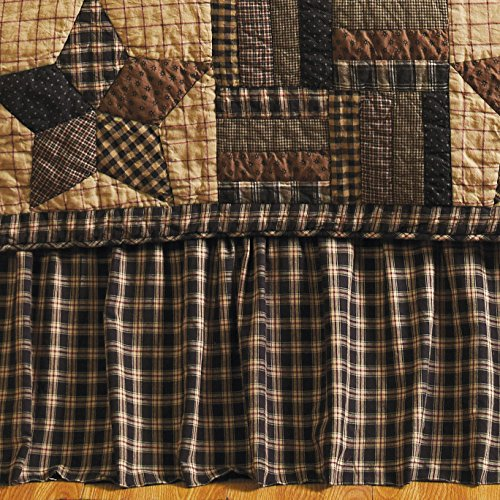 VHC Brands Bingham Star 9373 Bed Skirt, Queen