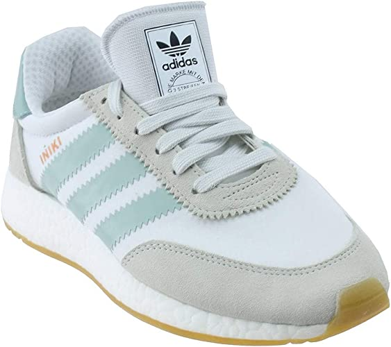 adidas Iniki Runner Womens in White/Tactile Green, 9.5