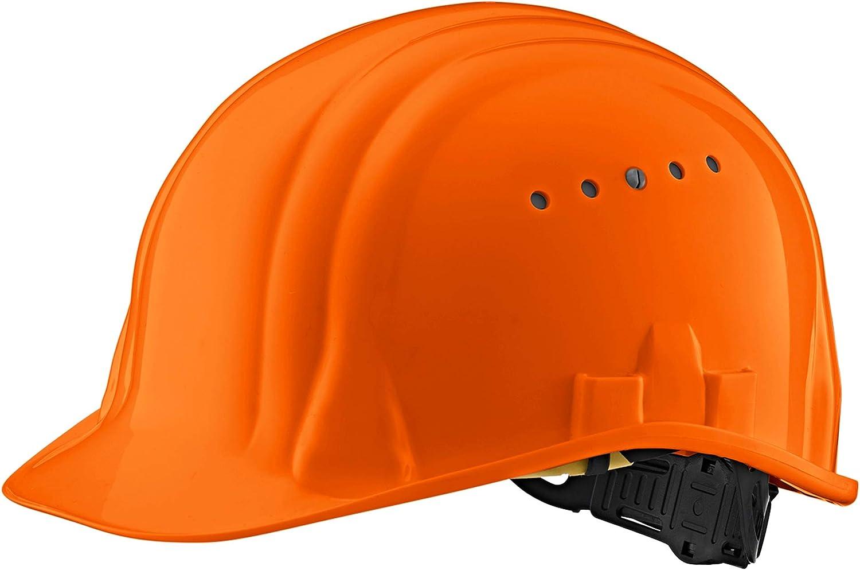Casco Casco de Seguridad -EN para Casco de construcción Industrial Casco de Trabajo Casco de Trabajador de construcción Casco de Trabajo Casco de protección en DIV. Colores - EN 397 (Naranja)