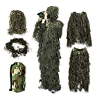 Ghillie Suit,OUTERDO Camo Suit Woodland and Forest Design Military Leaf Hunting and Shooting