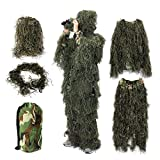 Best Ghillie Suits - Ghillie Suit,OUTERDO Camo Suit Woodland and Forest Design Review