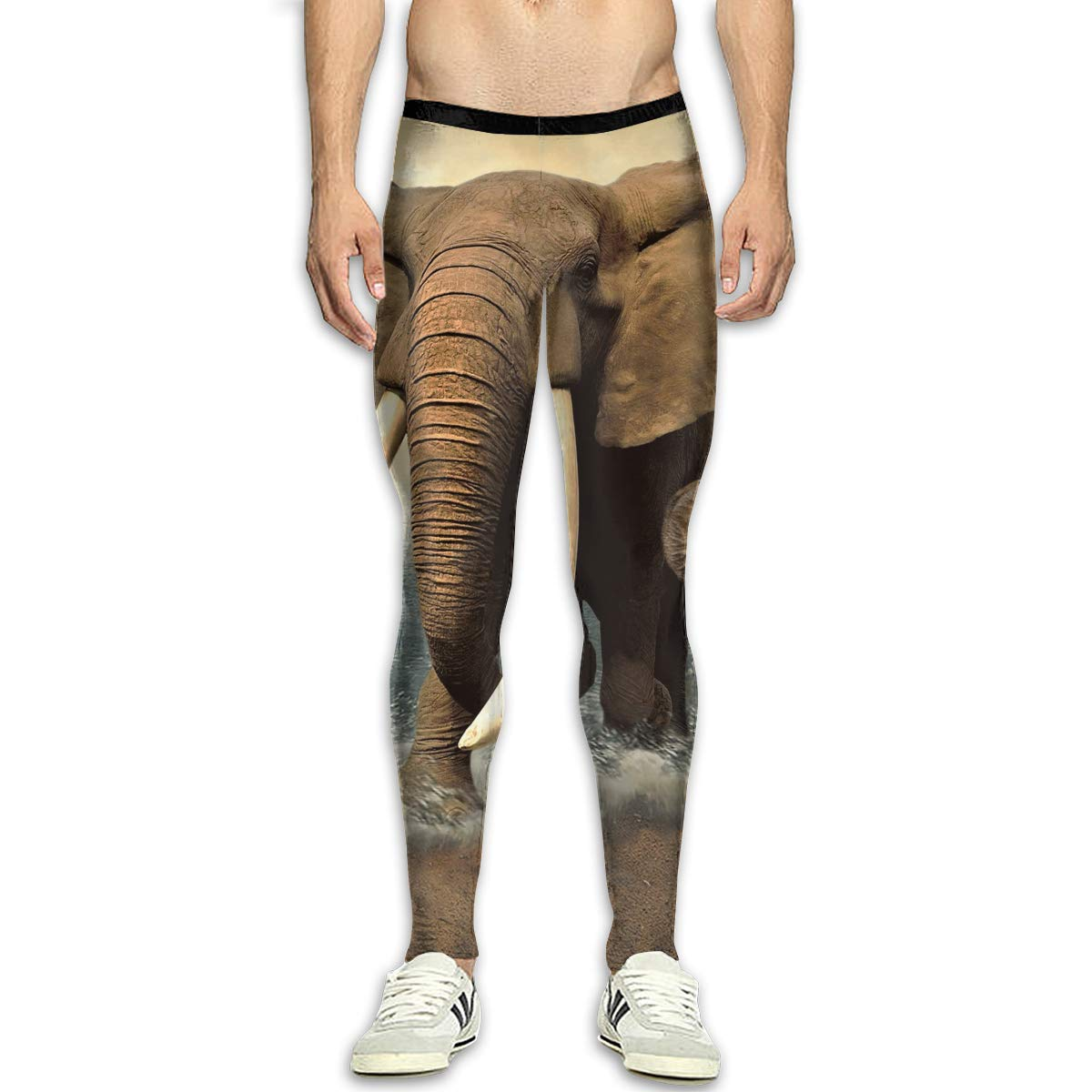 great variety styles clear-cut texture latest trends of 2019 Amazon.com: Elephant Animal Compression Pants/Running Tights ...