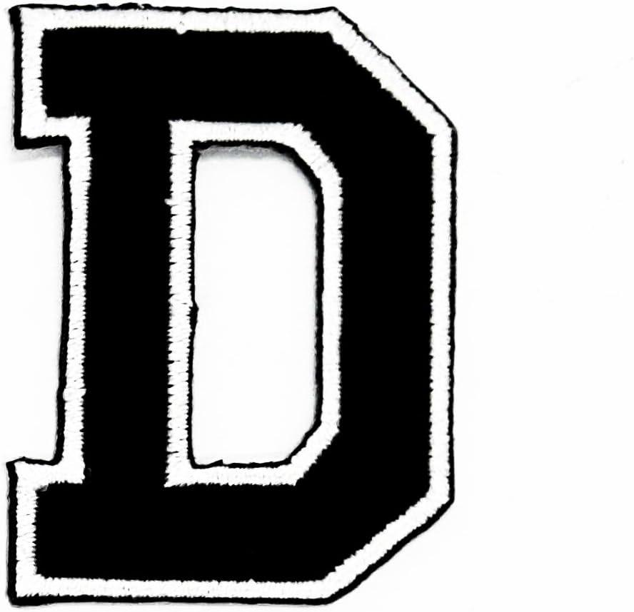 Parche bordado con la letra D del alfabeto inglés, para planchar y ...