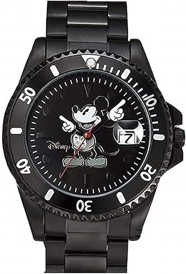 ディズニー世界限定 ダイヤモンドマリーン時計 モノクロブラック