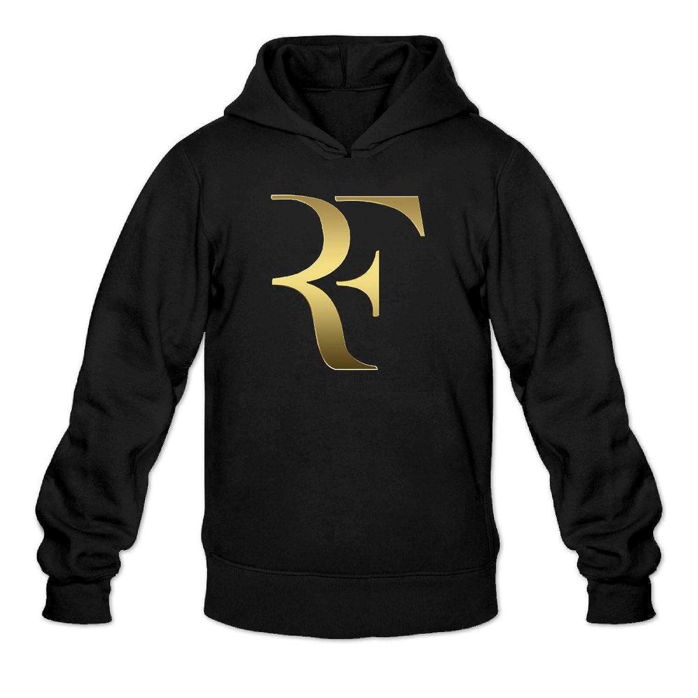 YQUE Men's Swiss Roger Tennis Federer Hoodies Sweater Black