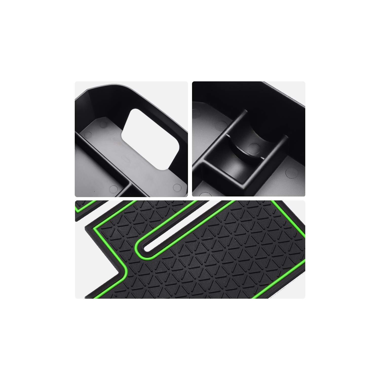 YEE PIN Center Console Storage Box Armrest Box Glove Box Secondary Storage Accessories for Toyota RAV4 Console Organizer 2019 2020 white