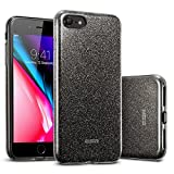ESR iPhone 8 Case, iPhone 7 Case, Glitter Case Bling Sparkle Three Layer Shockproof Soft TPU Outer Cover + Hard PC Inner Protective Shell Cover for Apple 4.7' (2017 &2016 Release)(Black)
