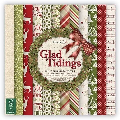 WOODEN FRAMES FOR CARDS /& CRAFTS DOVECRAFT CHRISTMAS GLAD TIDINGS