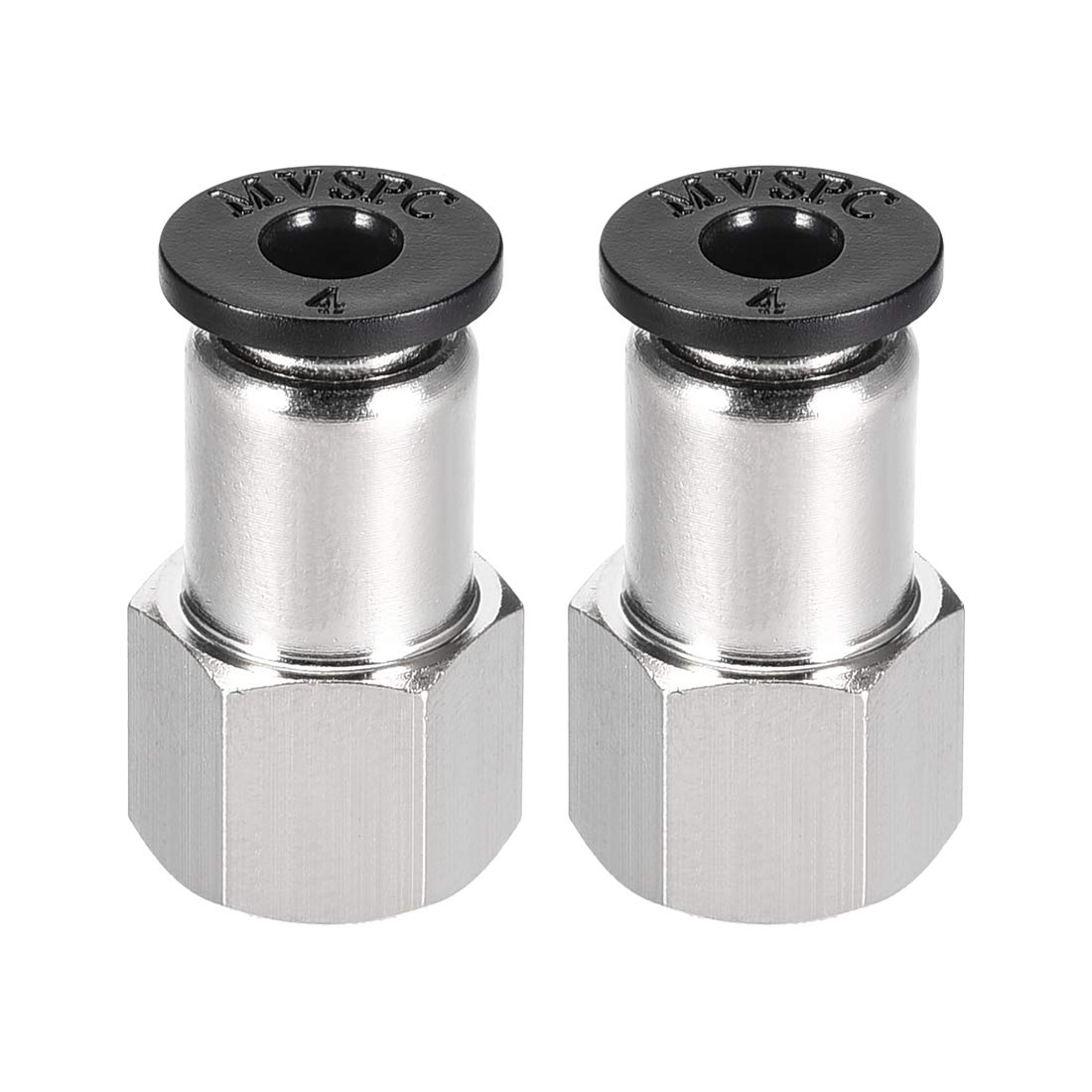 uxcell Push to Connect Tube Fitting Adapter 4mm Tube OD X 1//8 NPT Female Straight Pneumatic Connecter Connect Pipe Fitting 2pcs