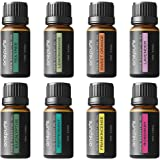 Onepure Aromatherapy Essential Oils Gift Set, 8 Bottles/ 10ml each, 100% Pure & Therapeutic Grade (Lavender, Tea Tree, Eucalyptus, Lemongrass, Sweet Orange, Peppermint, Frankincense and Rosemary)