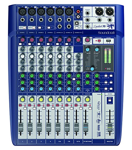 Soundcraft Signature 10 Analog 10-Channel Mixer with Onboard Lexicon Effects (Best Lexicon Reverb For Vocals)