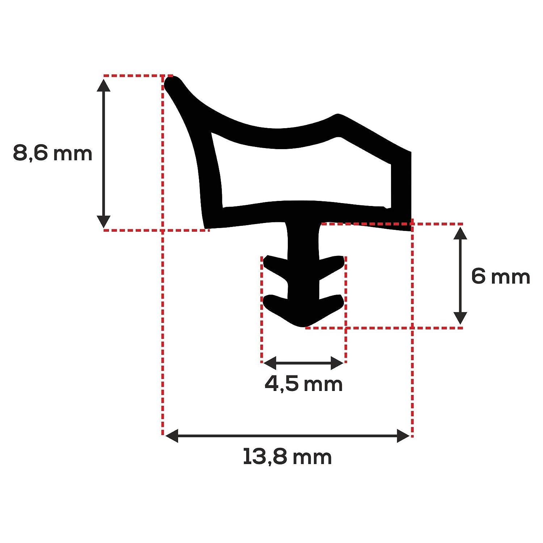 ToniTec T/ürdichtung Dichtprofil f/ür Holzzargen Zimmert/ürdichtung 12mm 25m Beige