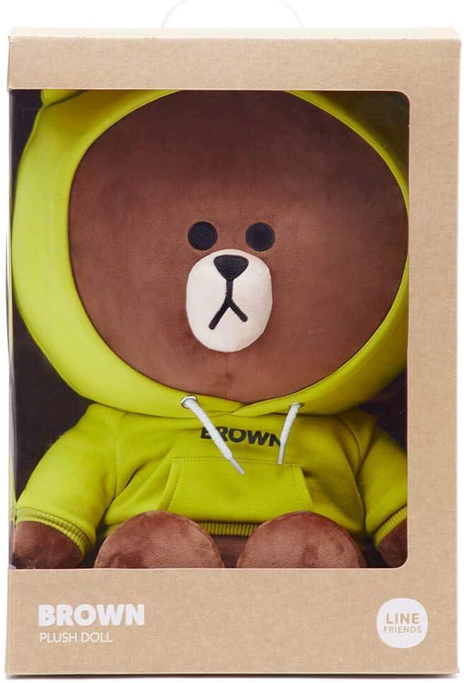 "Brand New LINE FRIENDS OFFICIAL 10/"" Medium Brown Bear Character Plush Season 5"