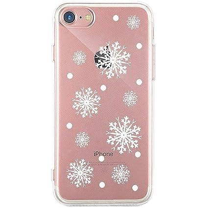 Surakey iPhone 7 Plus/8 Plus Cover Natale Silicone Morbido