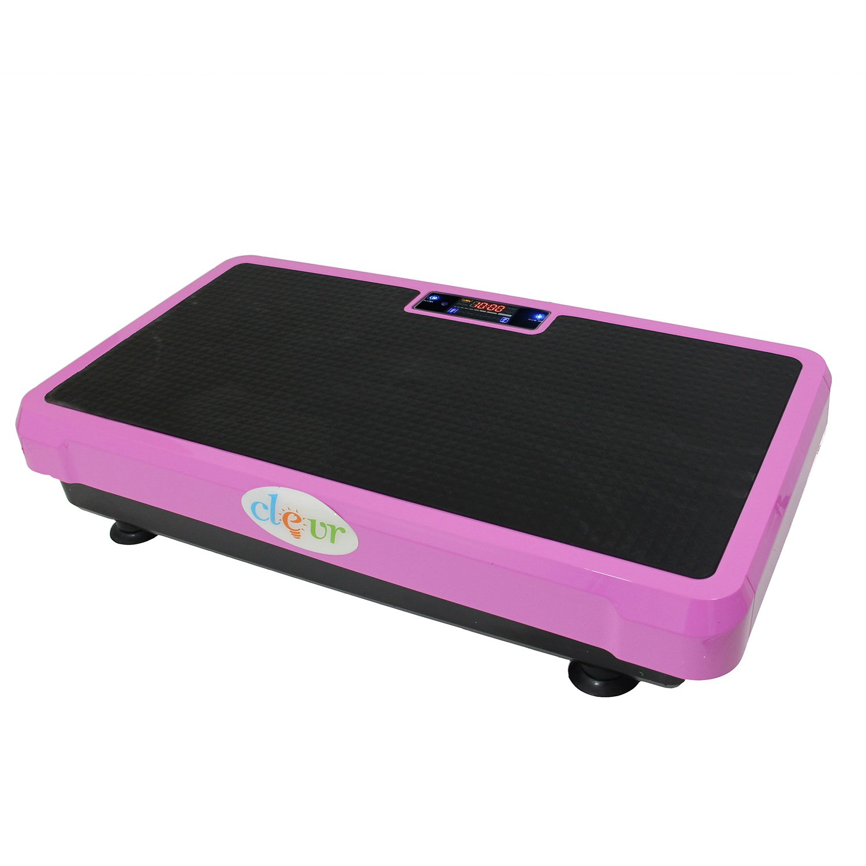 Clevr Superthin Pink Crazy Fit Full Body Vibration Platform Massage Exercise Machine MP3 Player