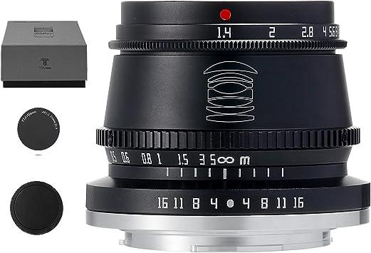 TTArtisan 35mm F1.4 APS-C Manual Focus Lens Compatible with Fuji Fujifilm X-Mount, X-A1, X-A10, X-A2, X-A2, X-A3, X-A5, X-A7, X-M1, X-M2, X-H1, X-T1, X-T10 X
