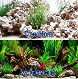 Brown Sugar Cloud Stone/Wonder Scape 18'' Aquarium Double-sided Background (18'' x 24'')