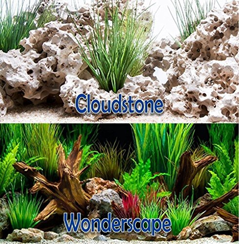 Brown Sugar Cloud Stone/Wonder Scape 18'' Aquarium Double-sided Background (18'' x 24'') by Brown Sugar