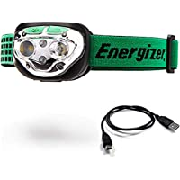 Energizer VISION LED Headlamp Flashlight, 400 High Lumens, IPX4 Water Resistant, Multiple Modes, Best Headlight for…