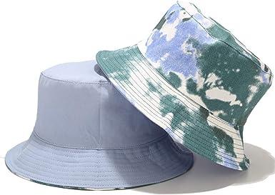 Mujer Hombre Gorro de Pescador Sombrero de Pescador Protecci/ón Solar Gorro de Playa Al Aire Libre Plegable Reversible