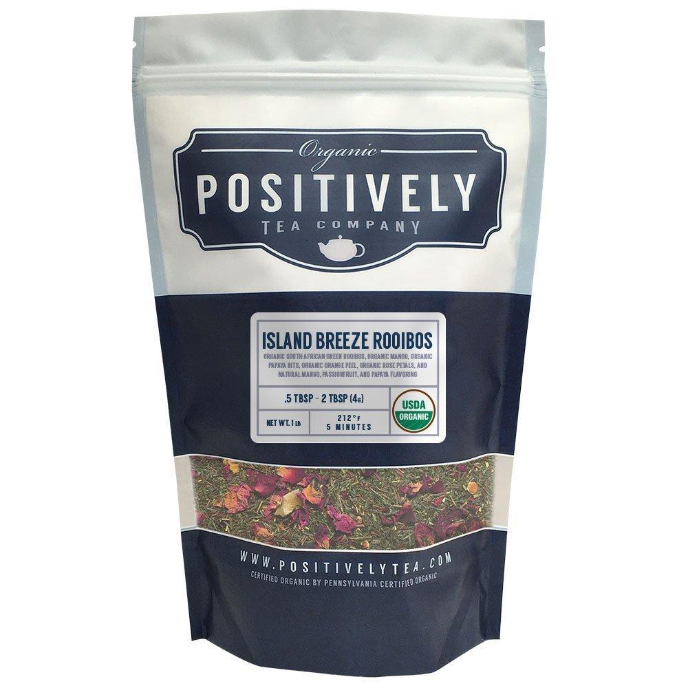 Positively Tea Company, Organic Island Breeze Rooibos, Rooibos Tea, Loose Leaf, USDA Organic, 1 Pound Bag by Organic Positively Tea Company