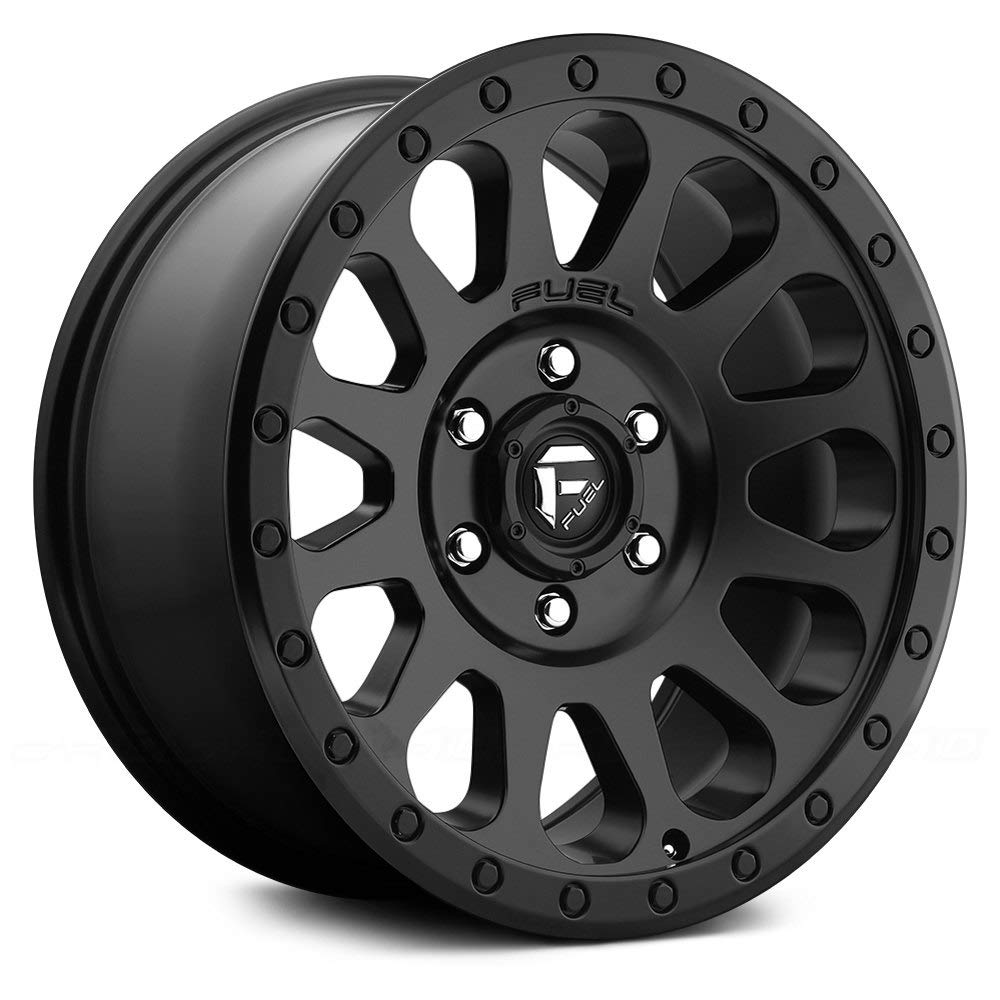 Matte BLK Wheel with Painted FUEL Vector BD 17 x 10.5 inches //6 x 139 mm, -6 mm Offset